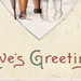 ELLEN CLAPSADDLE CUTE VALENTINE KIDS -I HAVE A SECRET IN MY HEARD - LOVE IS IN THE AIR International Art Card Series No 2744 Postmarked 19123