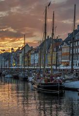 Nyhavn sunset (acase1968) Tags: nikon d500 nikkor 24120mm f4g copenhagen denmark danmark kobenhavn new harbor sunset dusk partly cloudy