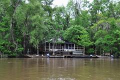 Slidell - A House With 2 Boats (Drriss & Marrionn) Tags: neworleans neworleansla neworleanscitytrip outdoor swamp river boattrip oldpearlriver slidell vehicle boat riverside landscape