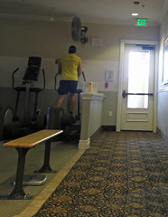 July 28, 2016 (1) (gaymay) Tags: california desert gay love palmsprings exercise treadmill walking bench door yellow