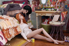 Lazy Morning with Emma & Z (APPark) Tags: dolls dioramas 16scale miniatures rement fashionroyalty bedroom nuface homme inthemixtakeo stylemantraeden girly vanity
