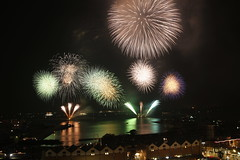 fireworks (M. Mikamo) Tags: summer kagoshima firework night bay festival 15000