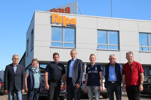 Besuch bei Fepa Wohnbau in Apen mit dem SPD-Ortsverein.