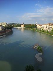The Adige running under the Ponte di Castelvecchio (matthewjoldfield) Tags: verona adige