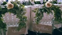 bride and groom's seats (Flower 597) Tags: weddingflowers weddingflorist centerpiece weddingbouquet flower597 bridalbouquet weddingceremony floralcrown ceremonyarch boutonniere corsage torontoweddingflorist