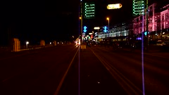 "20160830 Blackpool ""Ride the Lights"" with Western Train video (blackpoolbeach) Tags: blackpool tramway western tram illuminations cyclists bikes promenade streetcar 733734 train"