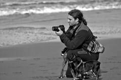 Wolfpack (R.D. Gallardo) Tags: canon eos 600d retrato robado raw blanco bw black bn negro white playa beach euskadi camara perros