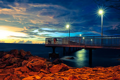 Nightcliff jetty (Orochi25) Tags: seascape sunset nikon nikond7000 ntaustralia nikond700 longshutter