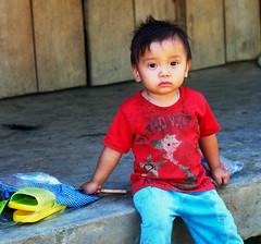 ccNDX_6220 (youngman242) Tags: boy vietnam daklak color present donation shy