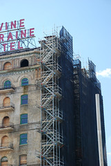 scaffolding, scaffold, superior scaffold, 215 743-2200, philadelphia, pa, de, md, nj, new jersesy, shoring, renovation, masonry, construction, divine lorraine, 004 (Superior Scaffold) Tags: scaffolding scaffold rental rent rents 2157432200 scaffoldingrentals construction ladders equipmentrental swings swingstaging stages suspended shoring mastclimber workplatforms hoist hoists subcontractor gc scaffoldingphiladelphia scaffoldpa phila overheadprotection canopy sidewalk shed buildingmaterials nj de md ny renting leasing inspection generalcontractor masonry superiorscaffold electrical hvac usa national safety contractor best top top10 electric trashchute debris chutes divinelorraine netting