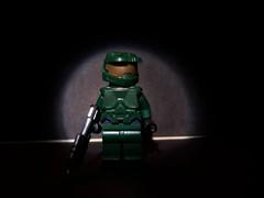 Master Chief (~J2J~) Tags: green lego chief halo master flashlight sharpie ba custom