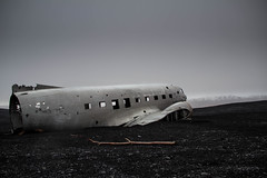 the plane (Explored) (JorunnSjofn) Tags: winter black plane iceland sand crash south january glacier wreck southshore planewreck 2013 18135mm solheimasandur
