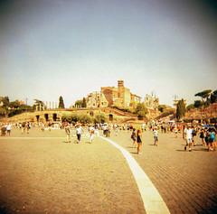 Roma (Kazze) Tags: street travel summer people rome roma 120 holga lomography estate vacanza 2012 turisti turist analogico kodal
