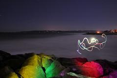 untitledDSC_6662 (Jimbo23King) Tags: longexposure light sea lightpainting beach lights slowshutter soc groyne sandbanks nikond300