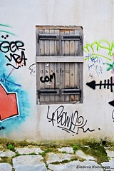 Athens Plaka (Eleanna Kounoupa (Melissa)) Tags: windows graffiti paint athens greece plaka anafiotika