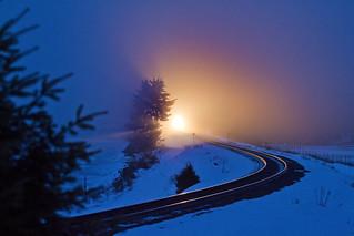 Trout Creek blue light