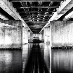 Under a new bridge (Geir Vika) Tags: bw vinter hdr srlandet kristiansand vika geir bildekritikk