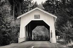 Hoffman Bridge near Crabtree, Oregon (ZnE's Dad) Tags: oregon linncounty oregoncoveredbridges hoffmancoveredbridge crabtreeor
