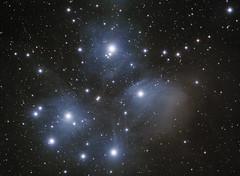 M45 (Pleiades cluster) (Daniele Malleo) Tags: sky stars space telescope galaxy nebula astrophotography astronomy galaxies ccd astrophoto qsi deepsky Astrometrydotnet:status=solved Astrometrydotnet:version=14400 Astrometrydotnet:id=alpha20130211267355