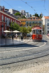 Not all Lisbon trams are yellow :-) (Stefan Cioata) Tags: travel vacation holiday detail tourism beautiful photography marketing site scenery europe view image sale exploring details great joy visit scene explore most destination sight lovely top10 iconic available advertise touristical flickrandroidapp:filter=none