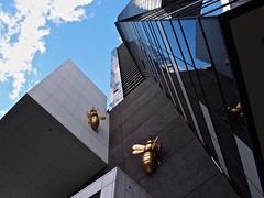 Around the Hive (The BigBlueCat) Tags: melbourne eurekatower reflectyourworld olympusxz1