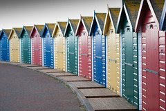 Colourful Huts (lazygiant2) Tags: uk england beach seaside sand nikon surf devon beachhuts dea d60 dawlishwarren