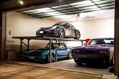 Porsche 997 Turbo (Dylan King Photography) Tags: blue canada car vancouver grey nikon bc lift garage wheels 911 gray wing twin columbia turbo porsche atlas british rims d90 9971 18105mm
