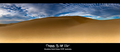 Sand and Sky (Kiall Frost) Tags: sky panorama sun beach clouds newcastle print photo sand day image pano dunes australia panoramic nsw stockton kiallfrost