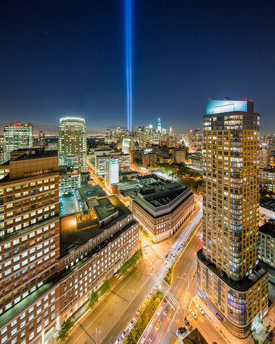 9/11 Tribute in Light Panorama #1