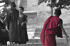 Young monks (johan van moorhem) Tags: nepal asia buddhism kathmandu azi swayambhunath youngmonks nikond90 november2012