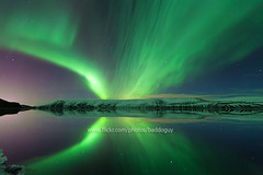 Valentine's Aurora (baddoguy) Tags: light sky sun mountain lake snow storm reflection green nature solar iceland natural space images aurora getty subject activity northern peninsula tranquil reykjanes magnetic gettyimages borealis phenomenon kleifarvatn แสงเหนือ gettyimagesstock