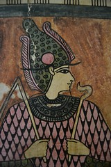 Osiris in Pink and Green (j. kunst) Tags: nederland netherlands holland 荷兰 noordholland amsterdam 阿姆斯特丹 allardpiersonmuseum archaeologicalmuseum universityofamsterdam uva coffin lid wood stucco paint painting osiris wsir god deity atef crown crook flail teuris diuhor egypt egyptian roman graecoromanperiod