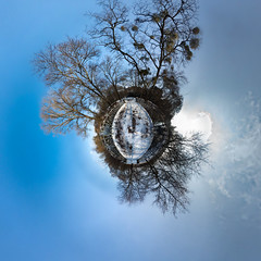 Cralbrücke (diwan) Tags: winter germany geotagged roundabout magdeburg planet ptgui equirectangular 2013 rotehorn cralbrücke geo:lon=11653489 geo:lat=52112894