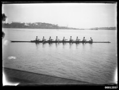 Eights rowing team on Sydney Harbour