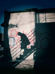 shadow stairs (sonyacita) Tags: shadow red stairs graffiti