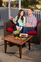 Couple on the patio at Babalu in Jackson, Mississippi (Tate Nations) Tags: food usa outdoors restaurant couple jackson patio drinks attractive ms babalu