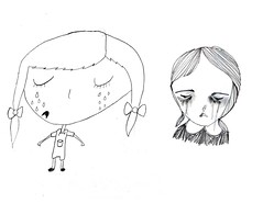 drawing girls 5. (pretty little thieves) Tags: illustration kidsart girlart drawinggirls