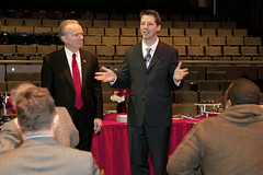 Sean Hayes at Founders Day (Alumni at Illinois State) Tags: foundersday patquinn illinoisstateuniversity seanhayes albowman