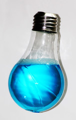 922-03 (Joe-Lynn Design) Tags: blue white glass lightbulb photomanipulation