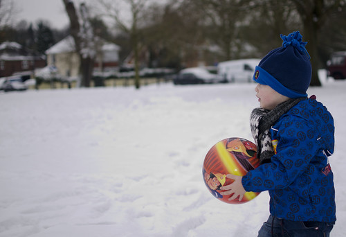 Thomas with his football