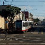 Morning at the turning loop in the Sunset  - MUNI N Judah