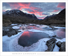 Highland Sunset (rgarrigus) Tags: winter sunset mountains ice clouds landscape evening scotland frozen highlands freezing glencoe icy frigid goldenhour rannochmoor wintry greatphotographers passofglencoe garrigus robertgarrigus robertgarrigusphotography