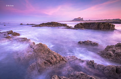 Hazy Sunset at Bamburgh (Michael Straker) Tags: longexposure landscape northumberland lee bamburgh bamburghcastle leefilters