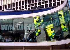 Hospital (.annajane) Tags: uk england reflection window glass liverpool hospital royal ambulance nhs ae whsmith merseyside prescotstreet accidentandemergency rluh royalliverpooluniversityhospital