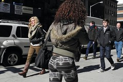 cowboy boots (omoo) Tags: newyorkcity girls boys girl boots streetscene sidewalk blonde greenwichvillage cowboyboots universityplace blondegirl blackandbrown beautifulblonde bootsbrown dscn5845 girlwearingcowboyboots girlsandboysbutnottogether