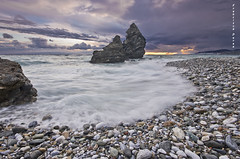 Heaven tormented. (Francisco J. Prez.) Tags: naturaleza nature landscape atardecer spain pentax playas mlaga sigma1020mm pentaxk5 franciscojprez