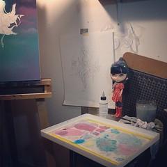 Wednesday night #studio #painting