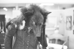 sarah, wolf headdress, jacket (cafemama) Tags: blackandwhite bw film march wolf kodak taxidermy kodaktrix bandw shootfilm 2013 sooc stealingtime sarahbartell wolfheaddress march2013 stealingtimemag stmrelations stealingtimemagazine