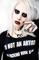 Catherine Falcon (catherine_falcon) Tags: art look saint rock marilyn fetish dark doll artist industrial vampire gothic makeup style piercing catherine manson