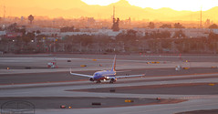 Sunset Departure (Winglet Photography) Tags: travel sunset arizona orange sun southwest phoenix yellow plane canon airplane flying glow desert dusk aircraft aviation transport flight jet transportation airline 7d luv sw boeing dslr airlines ding spotting airliner stockphoto phx skyharbor jetliner planespotting swa kphx wingletphotography bagsflyfree georgewidener georgerwidener